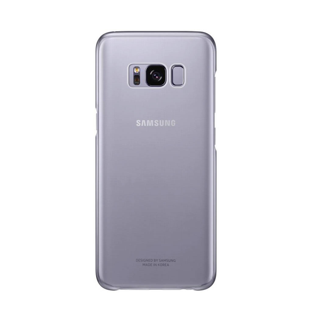 Samsung Galaxy S8 Clear backcover, Violet