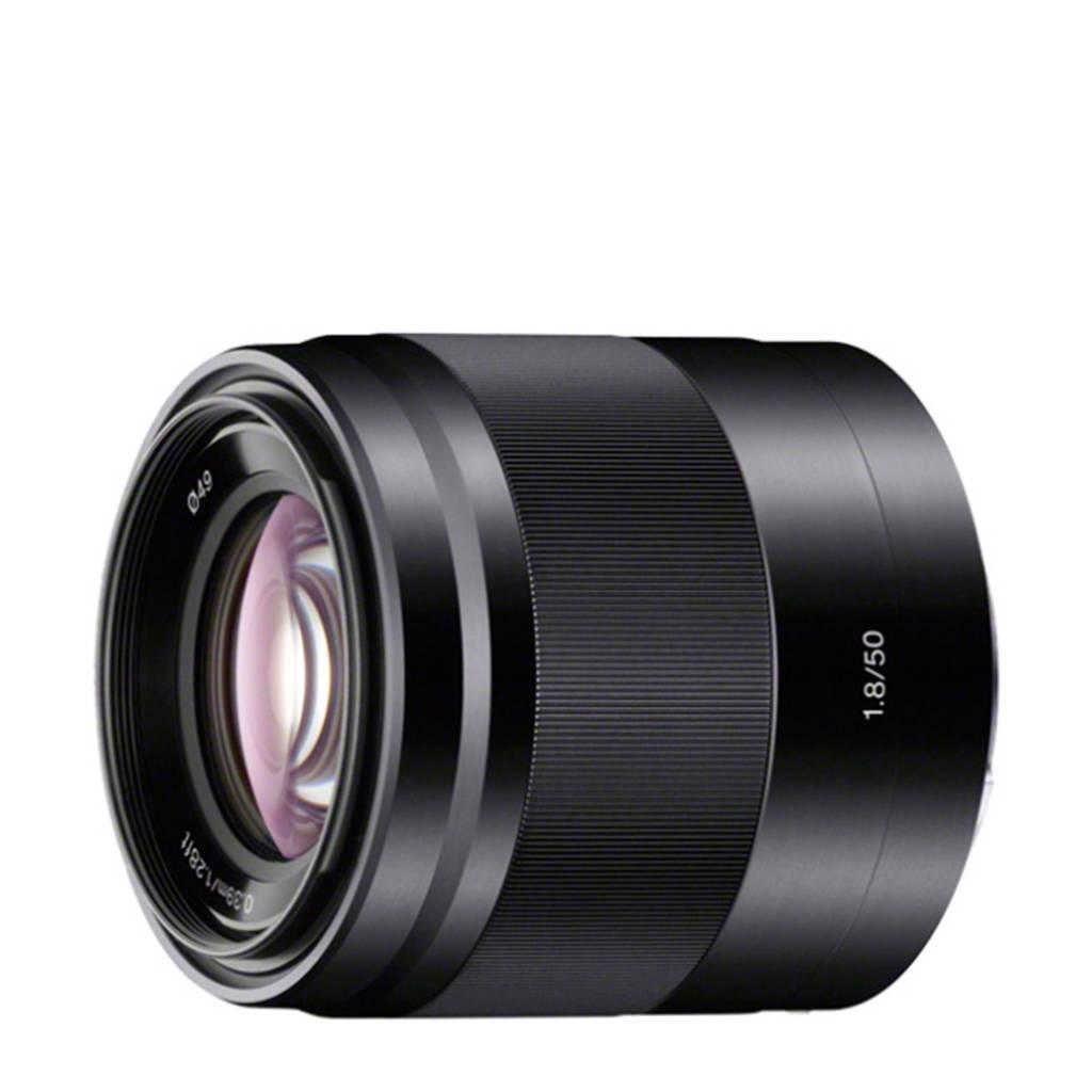 Sony SEL 50mm/F1.8 objectief, Zwart