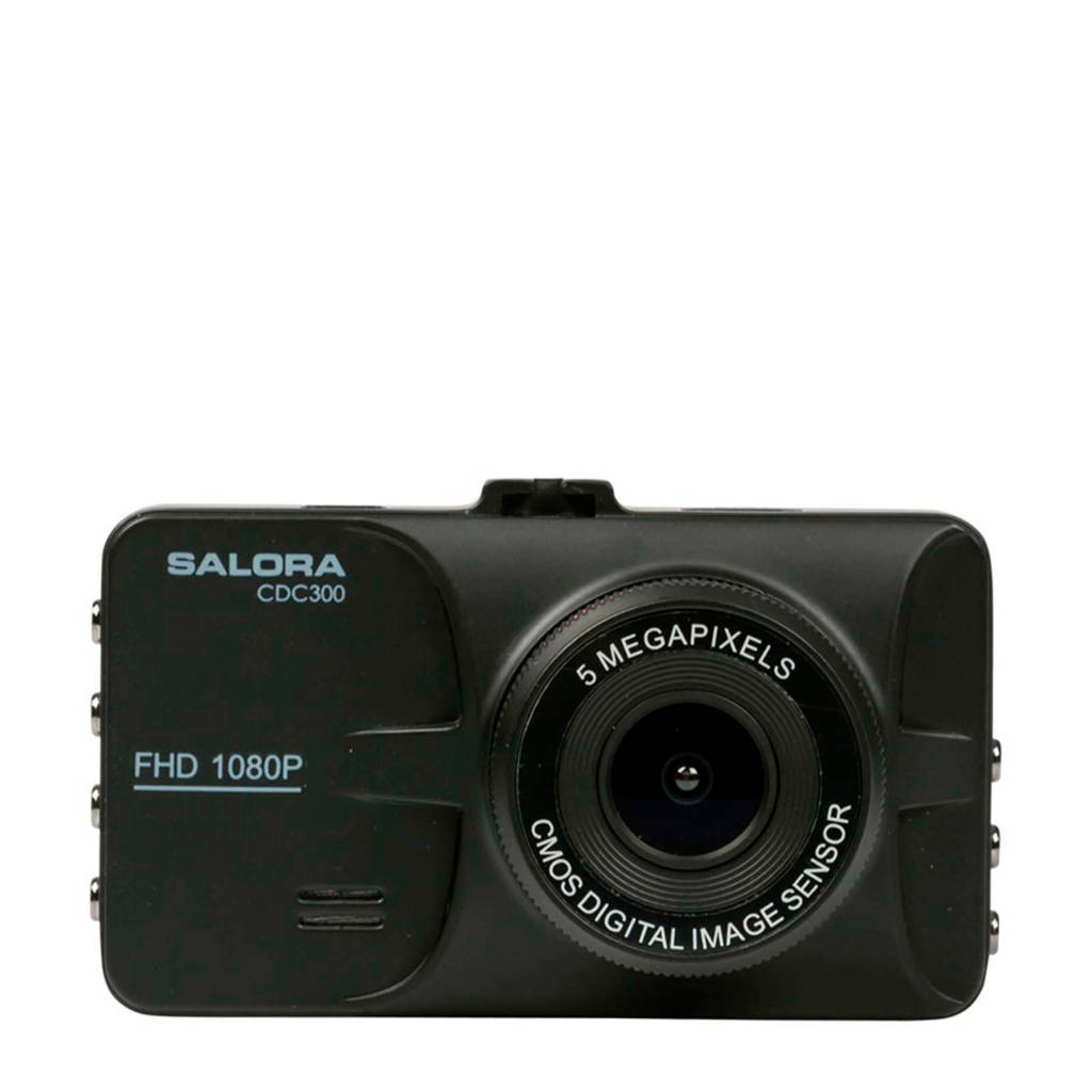 Salora CDC300 Full HD dashcam, Zwart