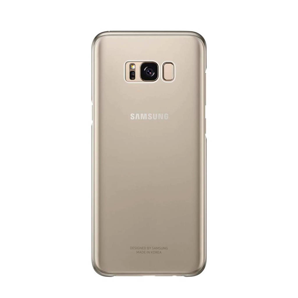Samsung cover CLEAR COVER S8+ goud, Goud