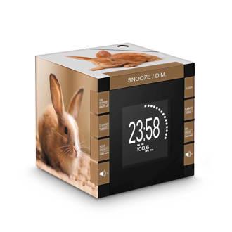 RR70PLAPIN wekkerradio konijntjes
