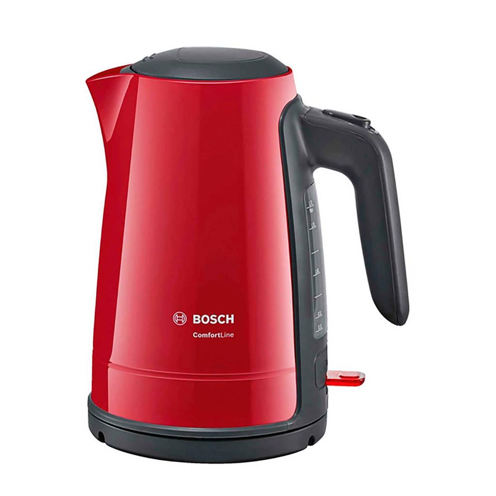 Bosch TWK6A014 ComfortLine waterkoker, Antraciet, Rood