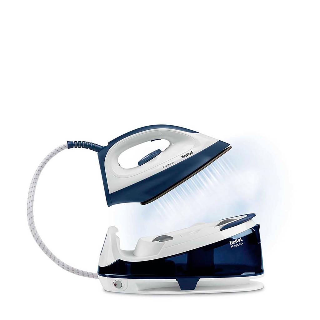 Tefal SV6040 Fasteo stoomsysteem, Blauw, wit