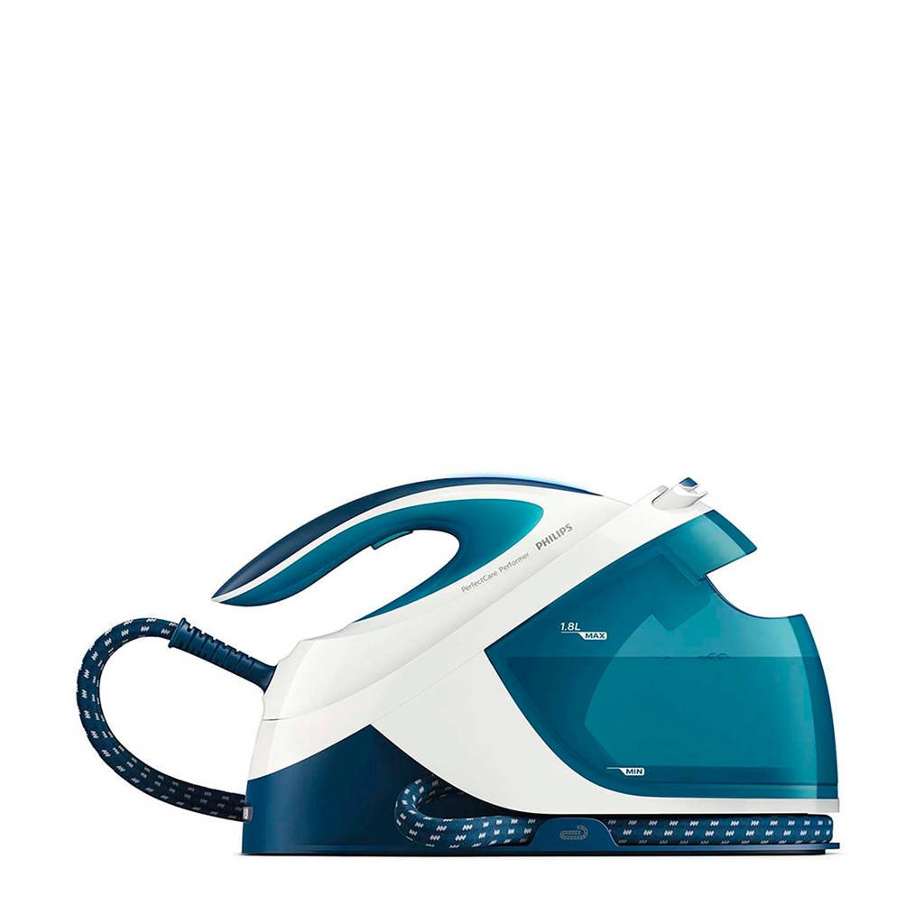 Philips GC8715/20 PerfectCare Performer stoomgenerator, Blauw, wit