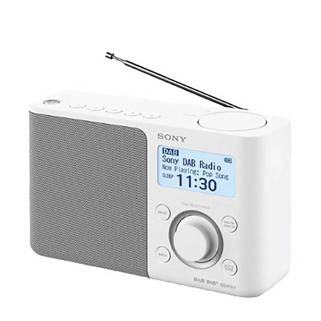 Sony XDRS61DW radio wit, Wit