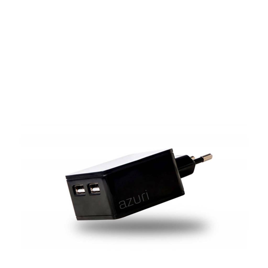 Azuri thuislader 4.8A zwart, Zwart