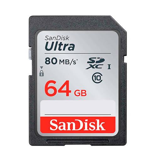 Sandisk SDXC Ultra 64GB 80MB/s CL10 geheugenkaart kopen