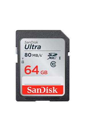 SDXC Ultra 64GB 80MB/s CL10 geheugenkaart