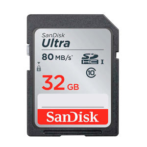 SDHC Ultra 32GB 80MB/s CL10 geheugenkaart