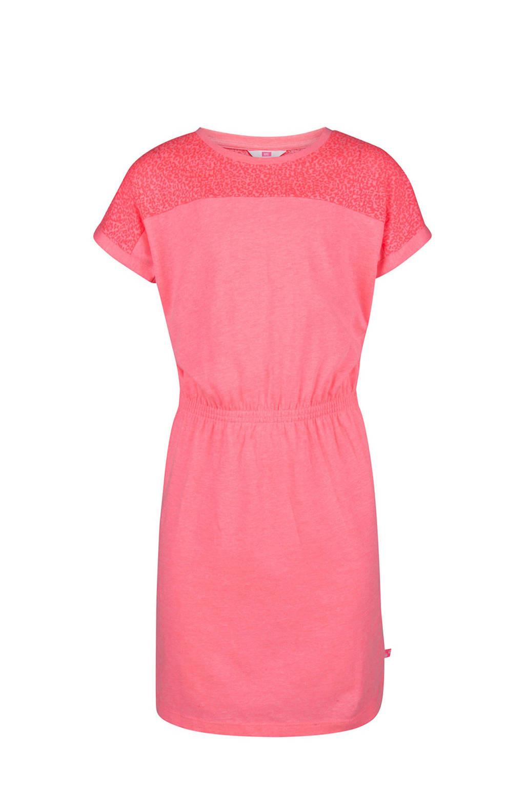 WE Fashion jurk met panterprint roze, Roze