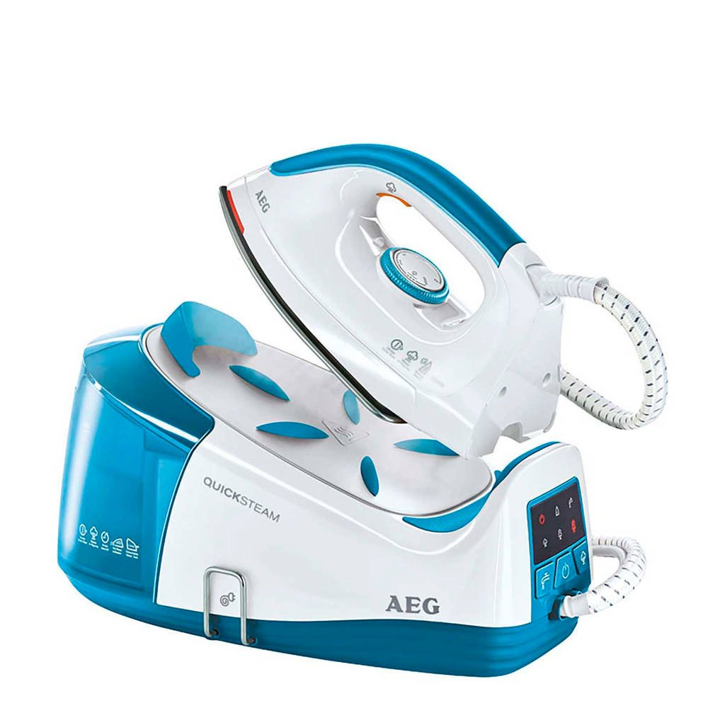 AEG DBS3340 STOOMSTATION TURQUOISE/WIT stoomsysteem, Blauw, wit