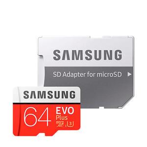 MicroSDXC EVO+ Class 10 64GB geheugenkaart + adapter