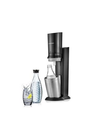 CRYSTAL BLACK +2 BOT SodaStream soda maker Crystalmet 2 karaffen