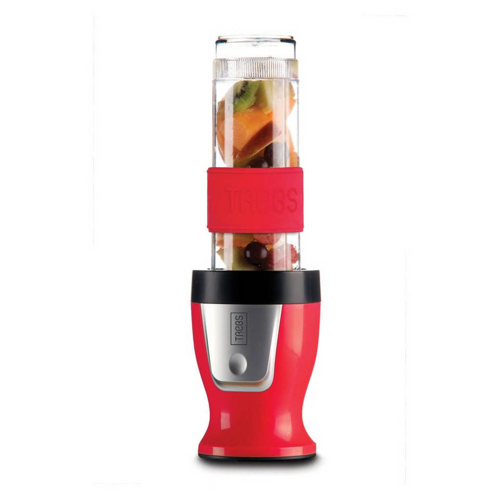 Trebs Smoothiemaker & Chopper in one, metallic/rood/zwart