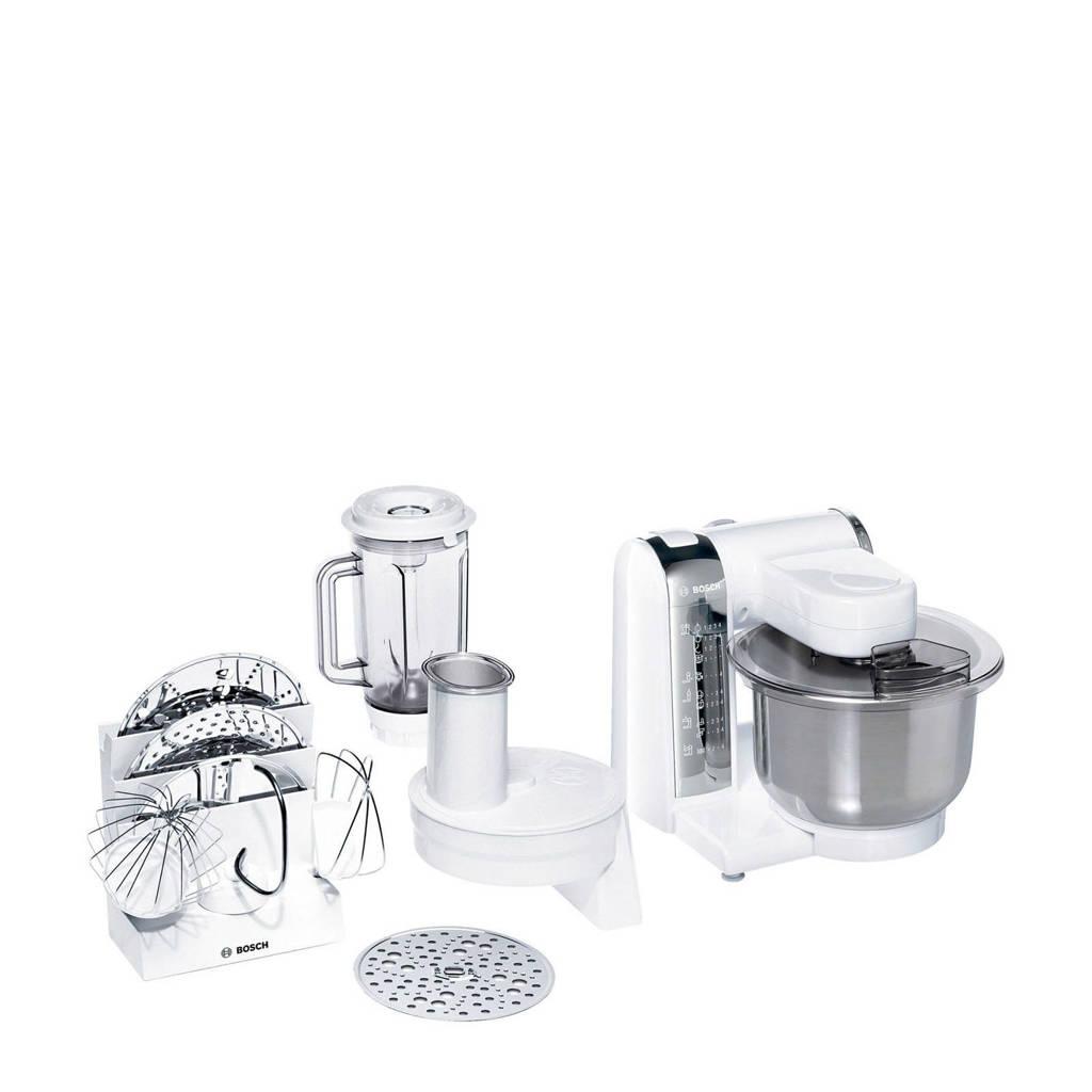 Bosch MUM48CR1 keukenmachine, Stainless steel,White