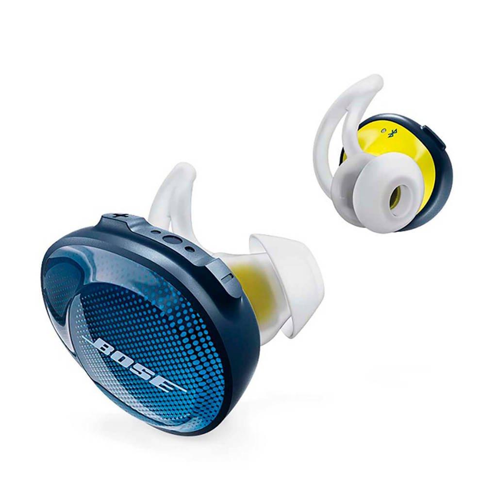 Bose in-ear bluetooth sport koptelefoon soundsport free blauw/geel, Blauw