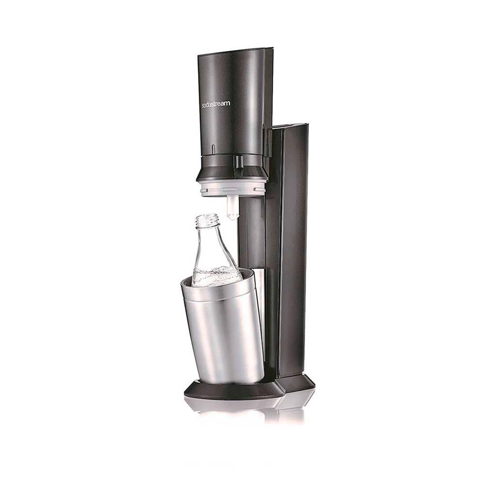 Sodastream CRYSTAL BLACK/METAL SodaStream soda maker Crystal, Zwart, zilver