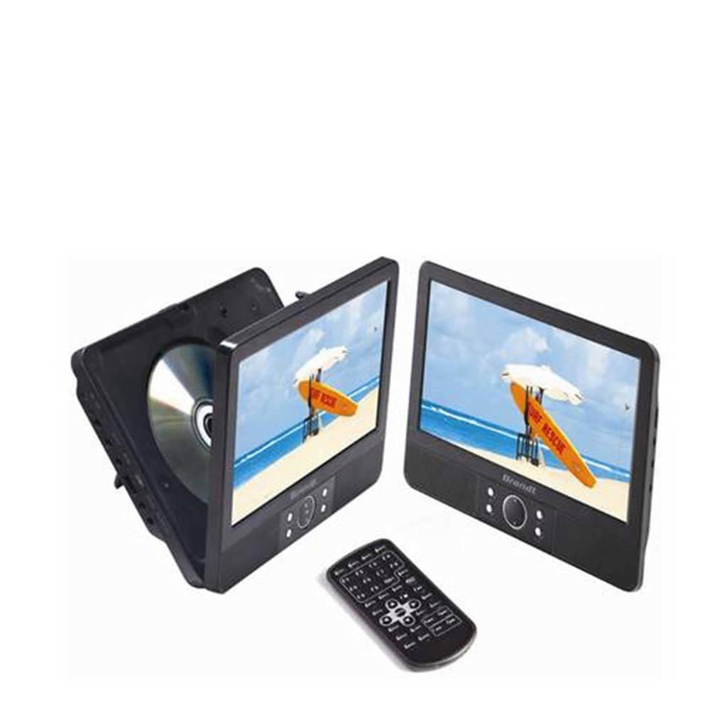 Brandt DVDP 9X2 DUO Portable DVD speler, Zwart