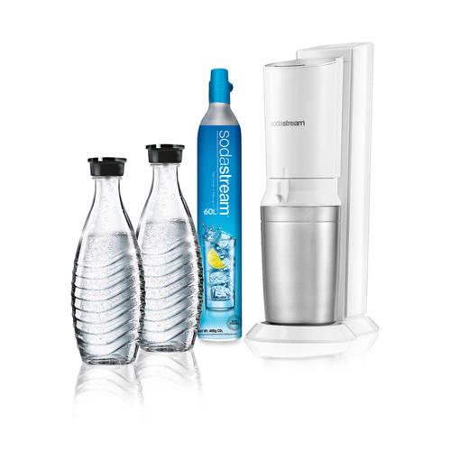 Sodastream kristal soda Maker Wit 1216511490 Basisapparaat, incl. 1 glazen karaf, incl. 1 CO2-cilind