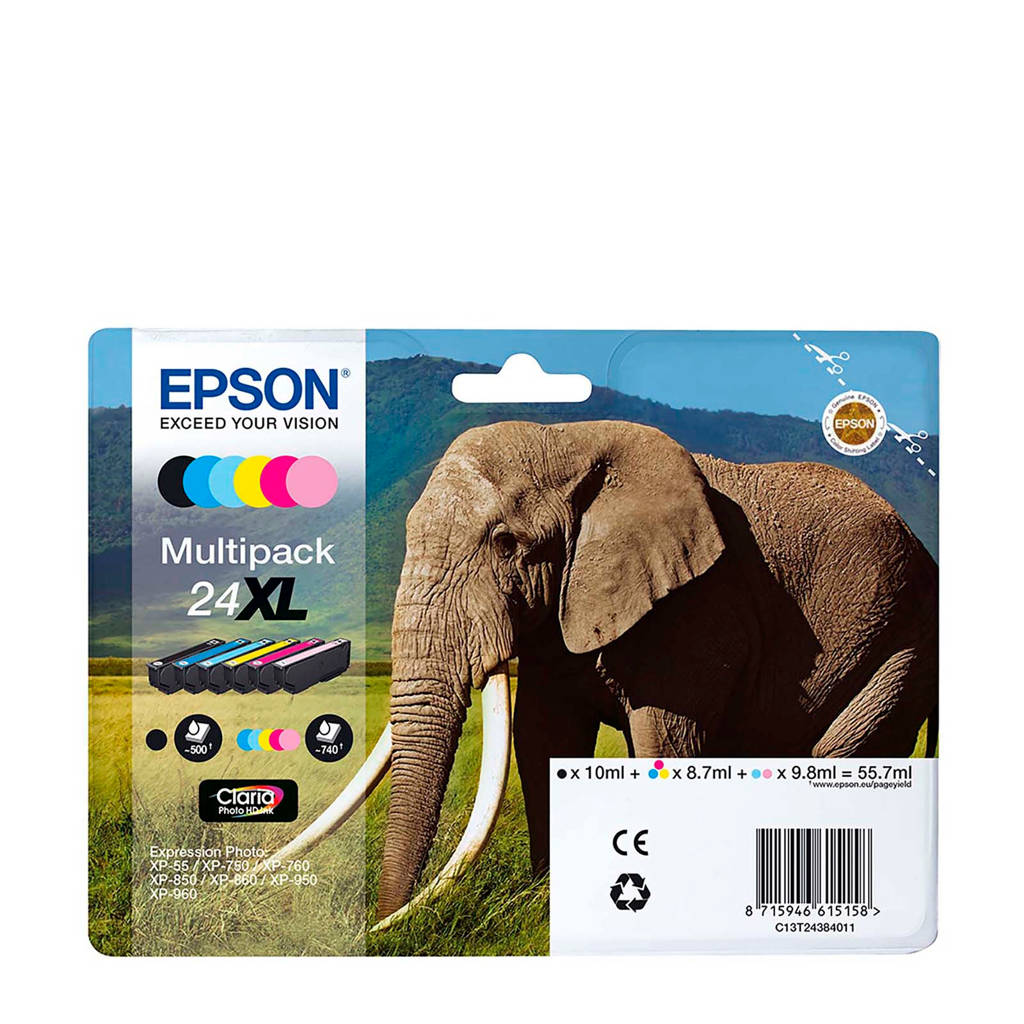 Epson T2438 XL INK MULTIPACK 6 Cartridge