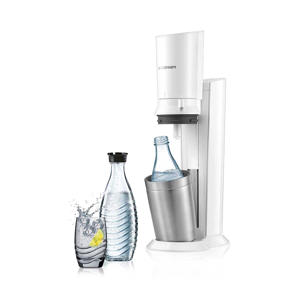 CRYSTAL WHITE +2 BOT SodaStream soda maker Crystal met 2 karaffen