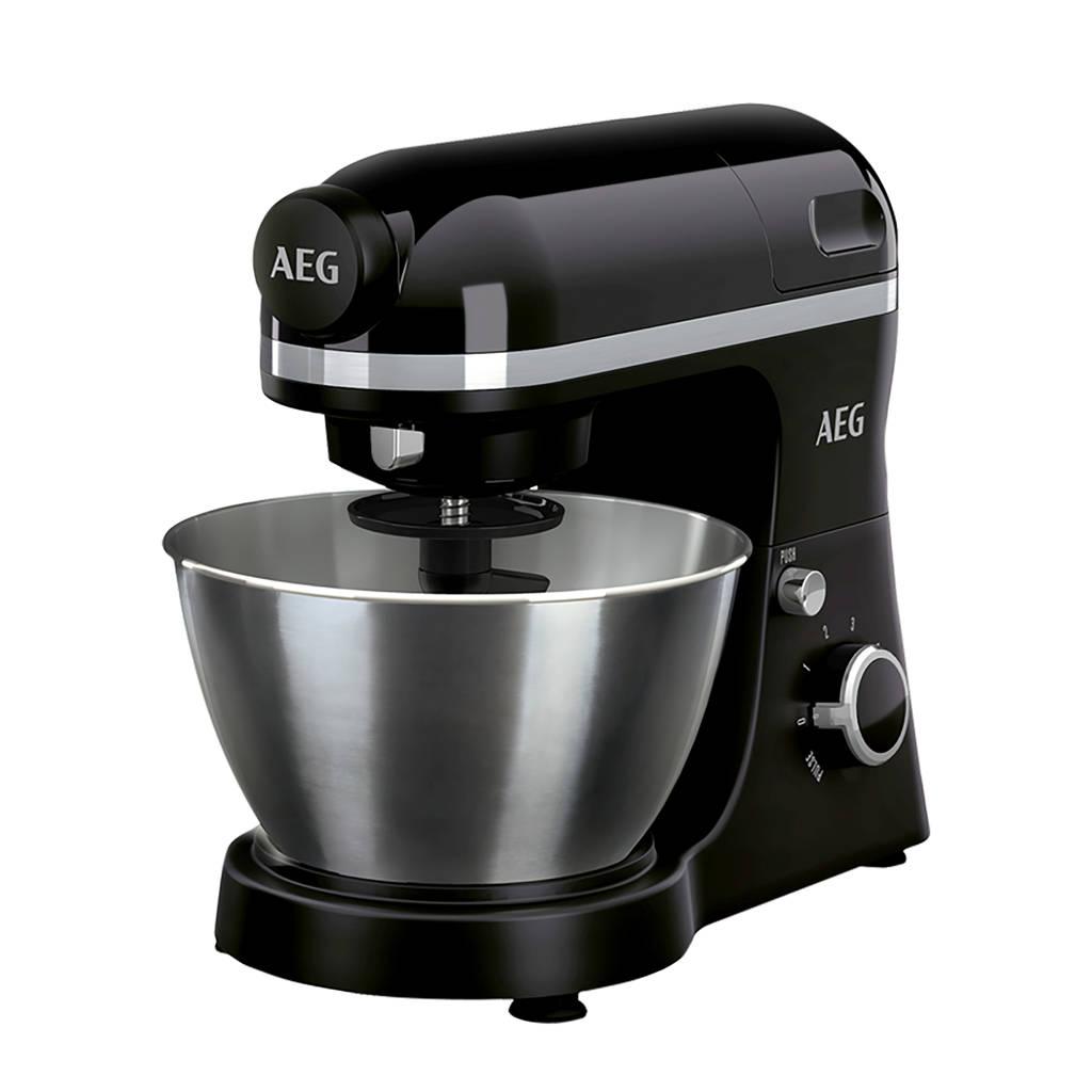 AEG KM3300 Ultramix keukenmachine, Zwart