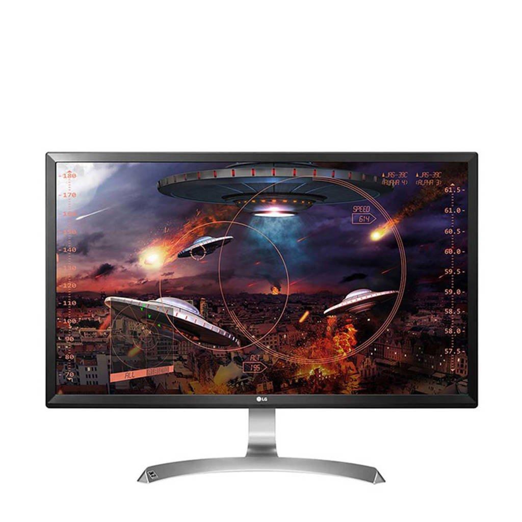 LG 27UD59-B 27 inch Ultra HD monitor, Zwart, zilver