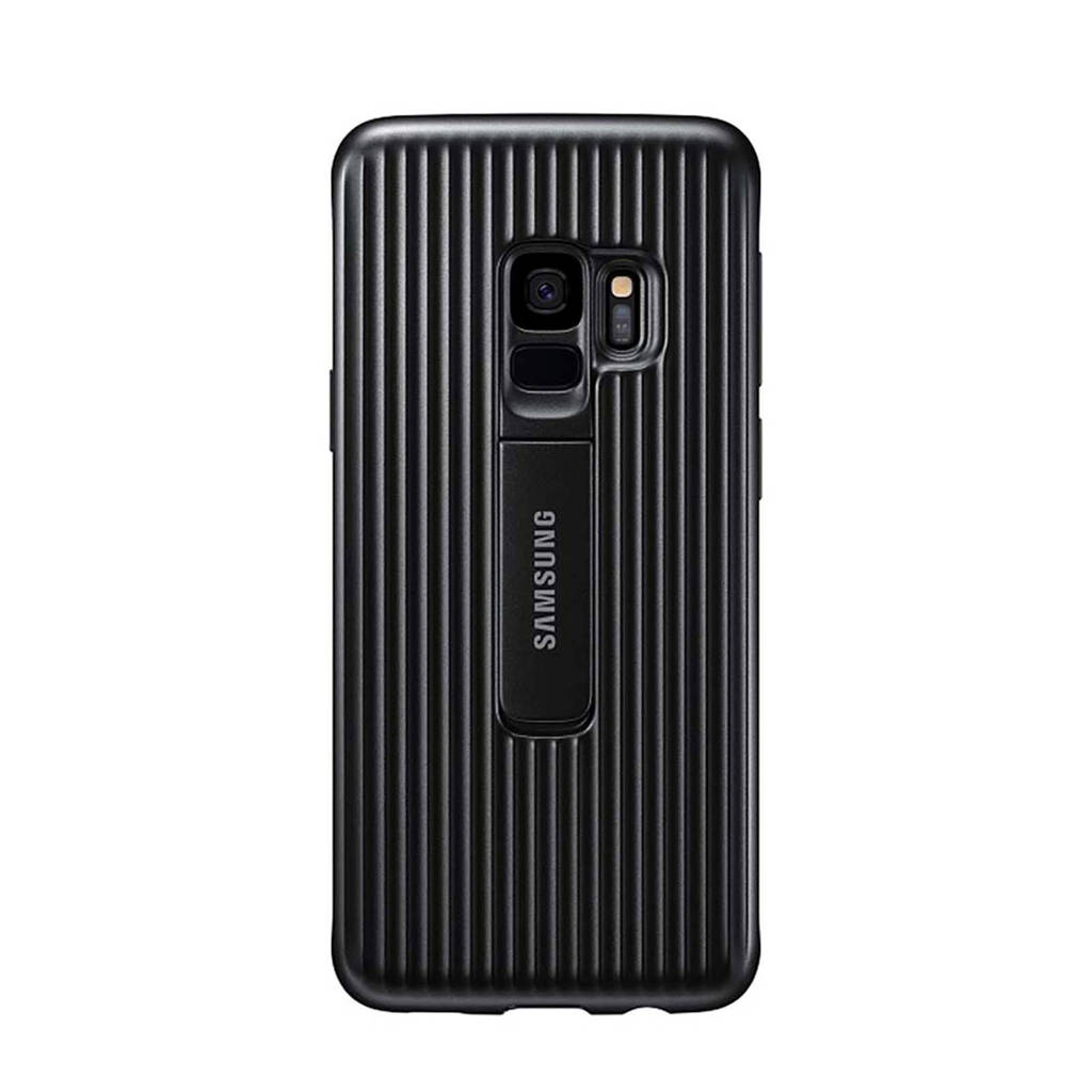 Samsung Galaxy S9 Protect Stand Cover, Zwart