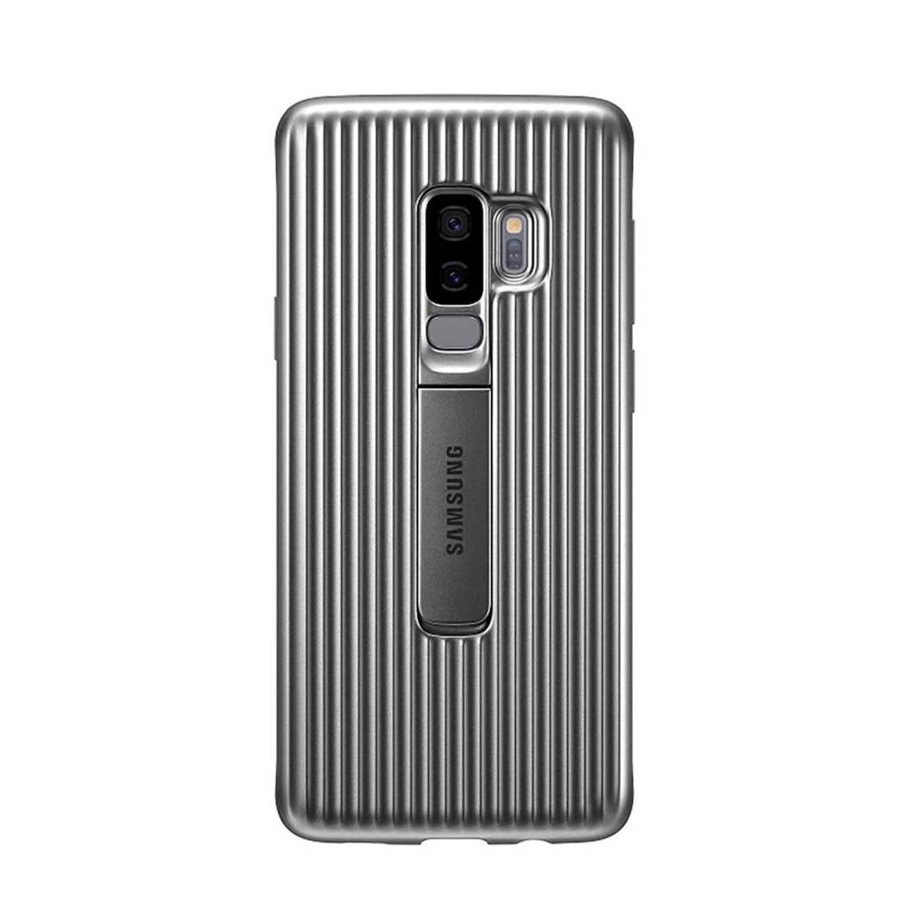 Samsung Galaxy S9+ Protect Stand backcover, Zilver