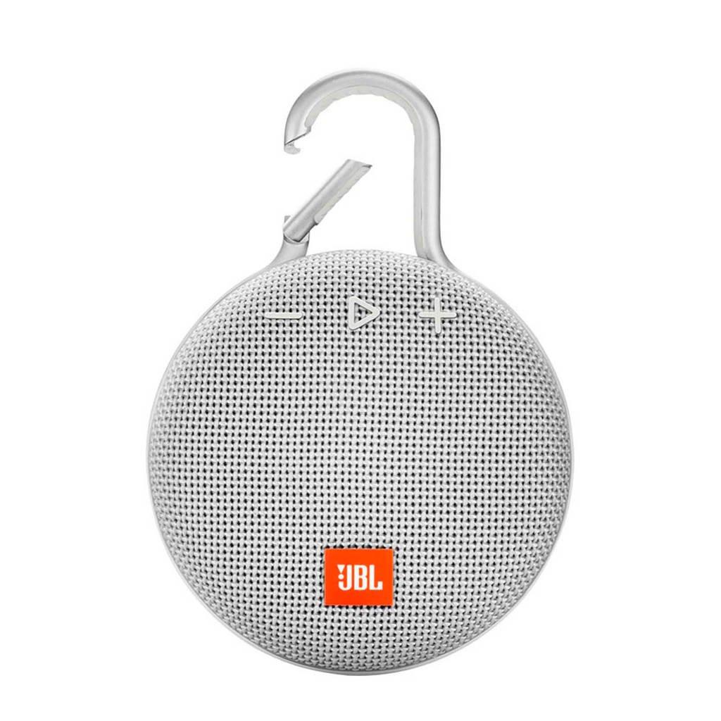 JBL Clip 3  bluetooth speaker wit, Wit