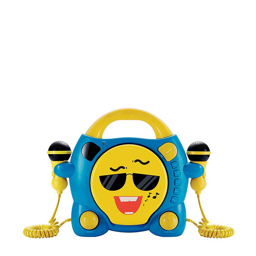 BigBen draagbare CD Speler met karaokefunctie, Blauw, geel