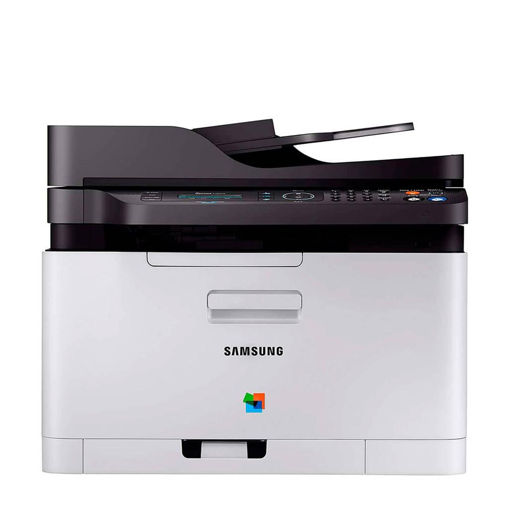 Samsung SL-C480FW COLOR MFP all in one kleurenprinter, Zwart, zilver
