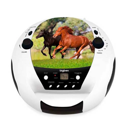 Bigben Interactive Draagbare radio-CD speler met paardendesign
