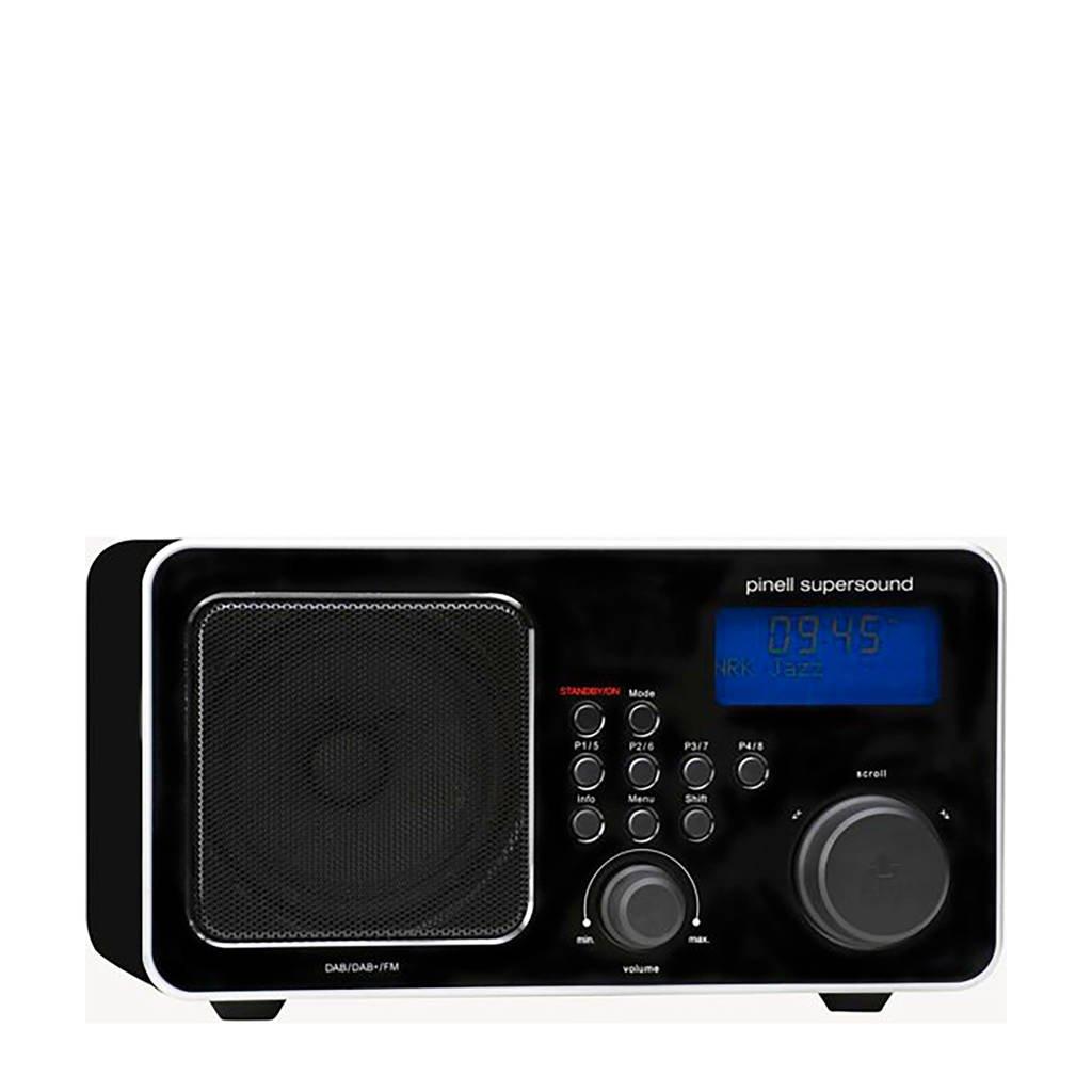 Pinell SUPERSOUND DAB+ ZWART draagbare DAB+ radio, Zwart
