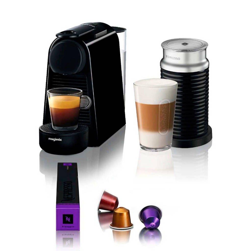 Magimix ESSENZA ZWART + AERO Nespresso machine + melkopschuimer, Zwart