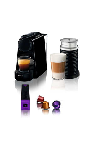 ESSENZA ZWART + AERO Nespresso machine + melkopschuimer
