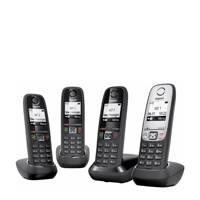 Gigaset GIGNL-QUATTRO-BLKSLV huistelefoon, Zwart