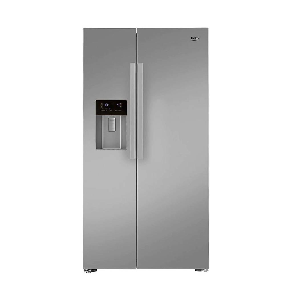 Beko GN162320PT Amerikaanse koelkast, Zilver