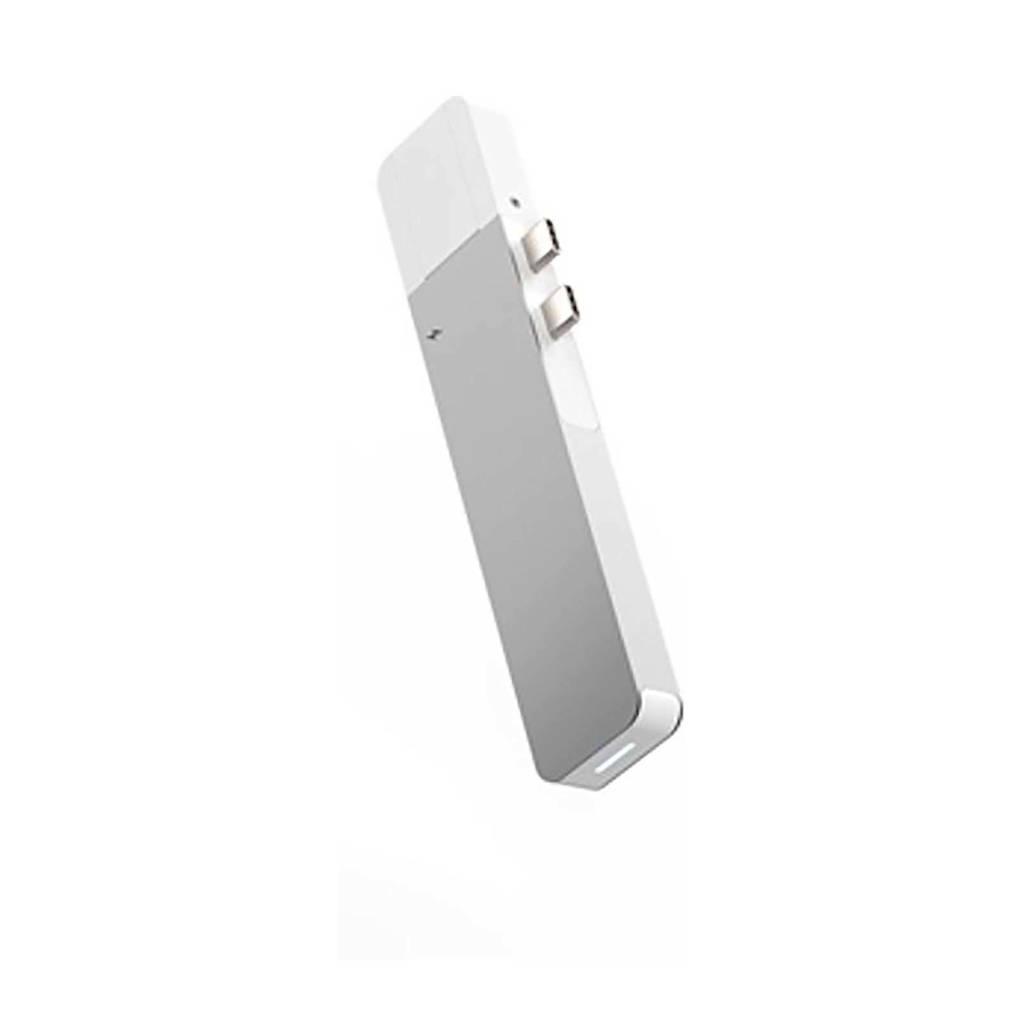 Hyper NET HUB USB-C PRO SILVER Net hub voor USB-C Macbook Pro, Zwart, zilver