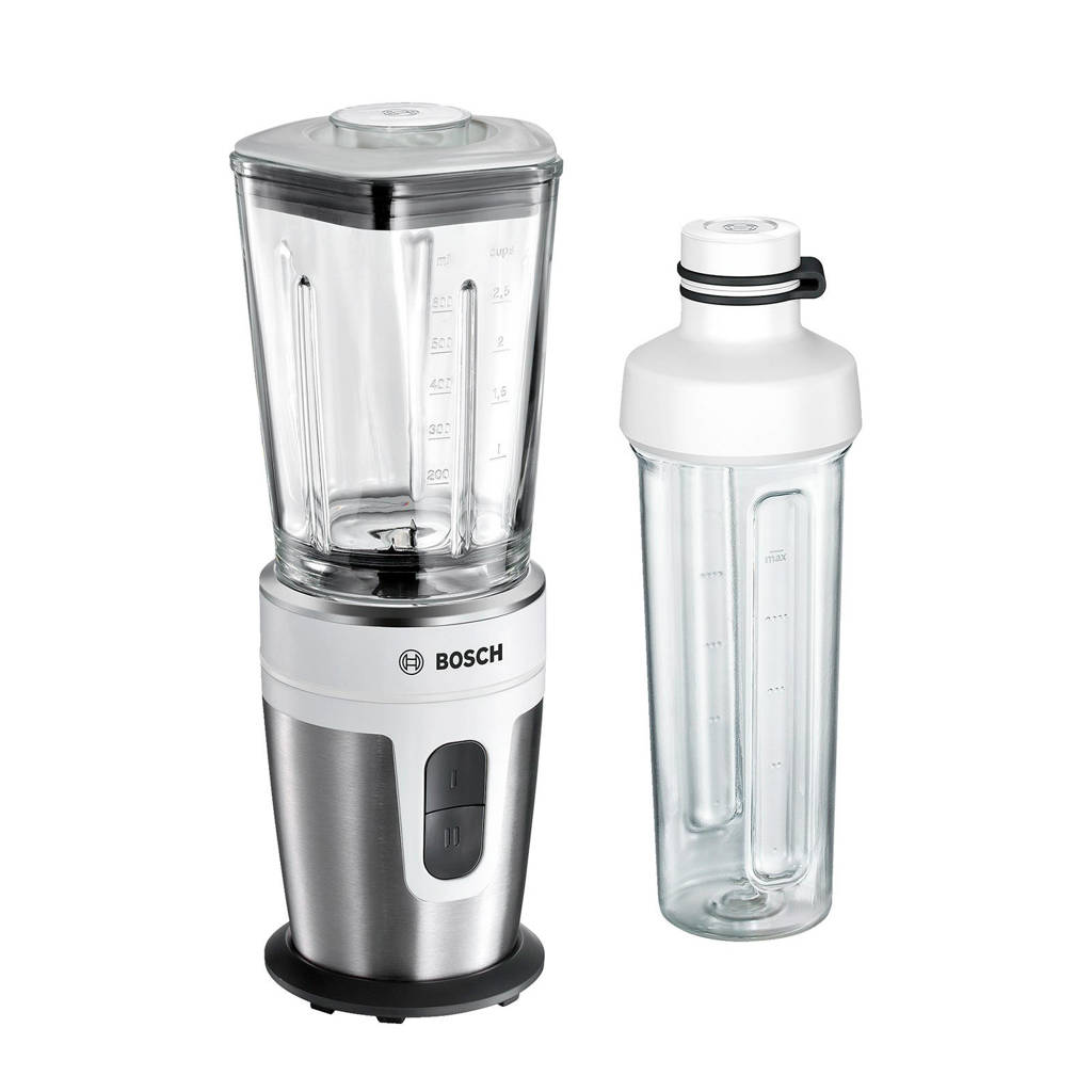 Bosch MMBM7G2M blender to go wit, Rvs/wit
