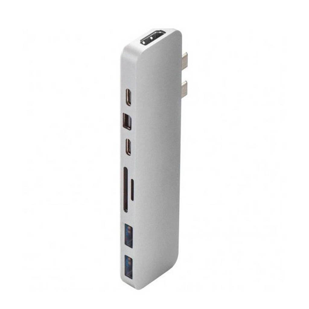Hyper PRO HUB FOR USB-C SILVER HyperDrive Pro hub voor Macbook Pro USB-C, Zilver