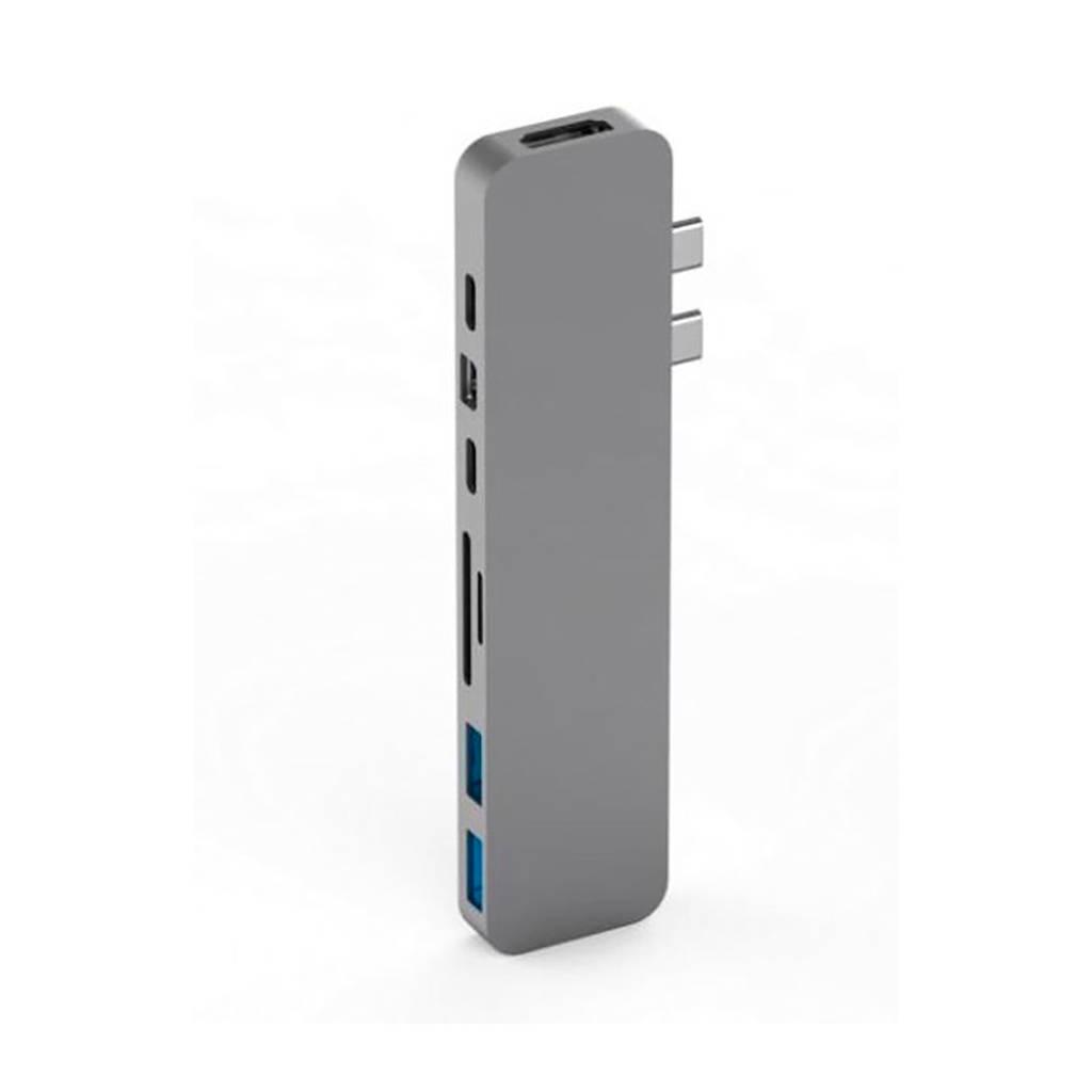 Hyper PRO HUB FOR USB-C GREY Pro hub voor Macbook Pro USB-C, Grijs