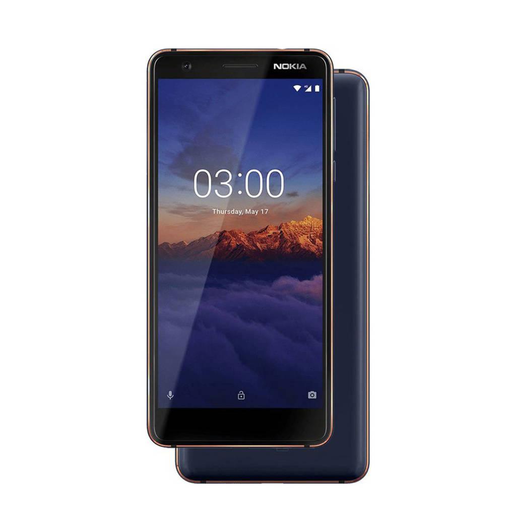 Nokia 3.1, Blauw, Koper