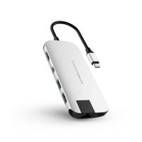 Hyper SLIM USB-C HUB SILVER Slim USB-C hub, Zilver