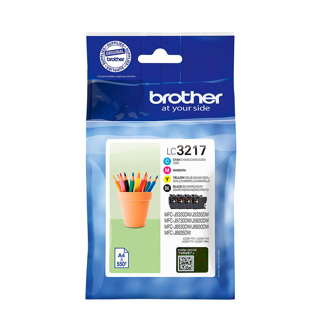 Brother LC3217 MULTI BCMY inktcartridge multipack