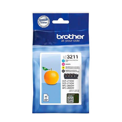 Brother LC3211 MULTI BCMY inktcartridge kopen
