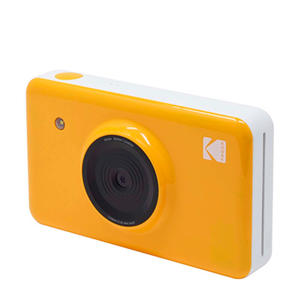 MINISHOT YELLOW INCL DYESUB CARTRIDGE VOOR 20 FOTO instant compact camera