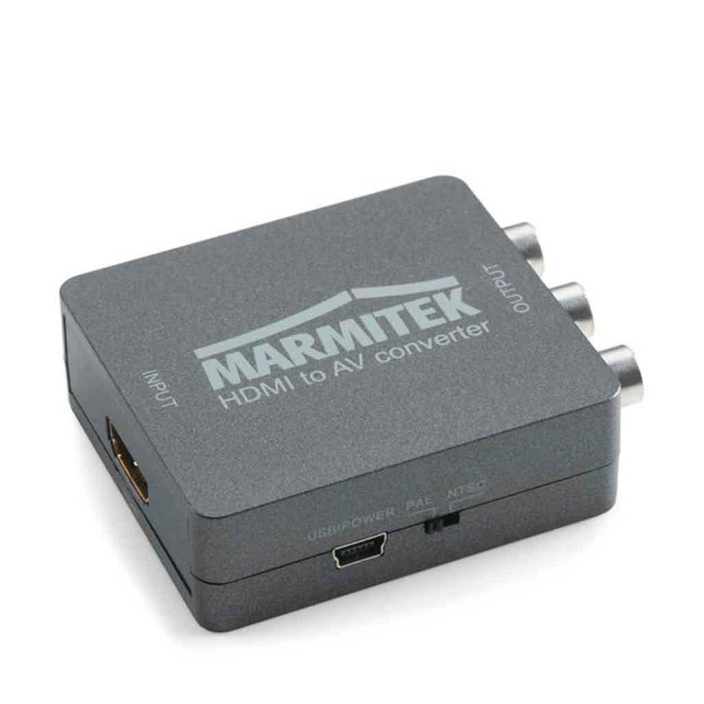 Marmitek Connect HA13 HDMI naar RCA / SCART converter, Zwart