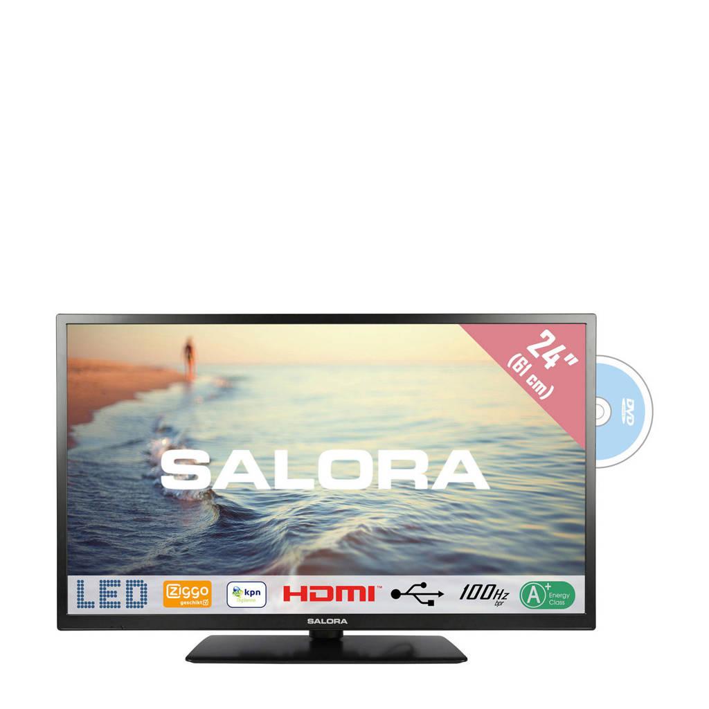 Salora 24HDB5005 HD Ready tv met ingebouwde DVD speler, 24 inch (61 cm)