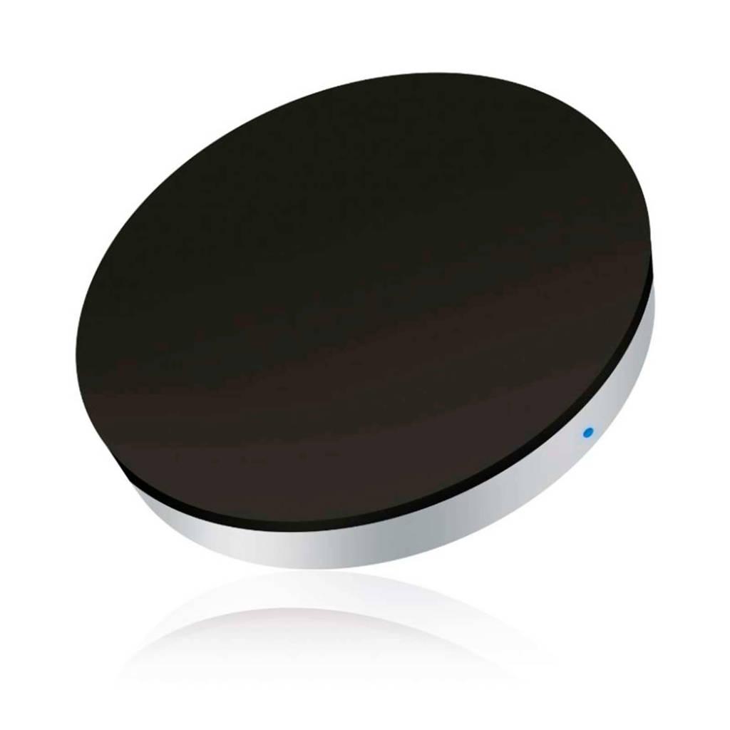 ZENS wireless Qi draadloze oplader mini, Zwart, zilver